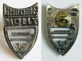 Chrome Molly - Cast Metal Badge